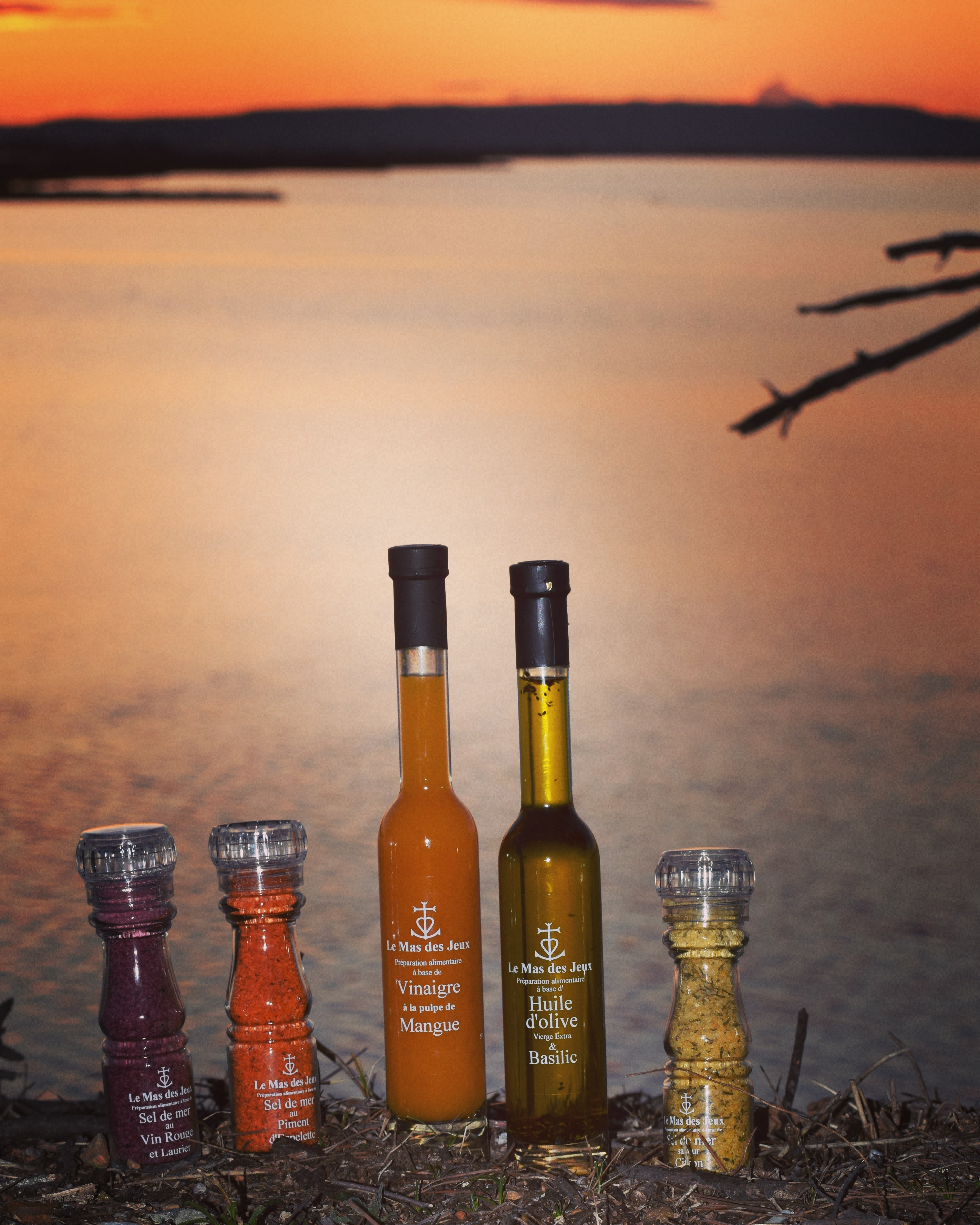 Huile olive aromatisée sels et vinaigre