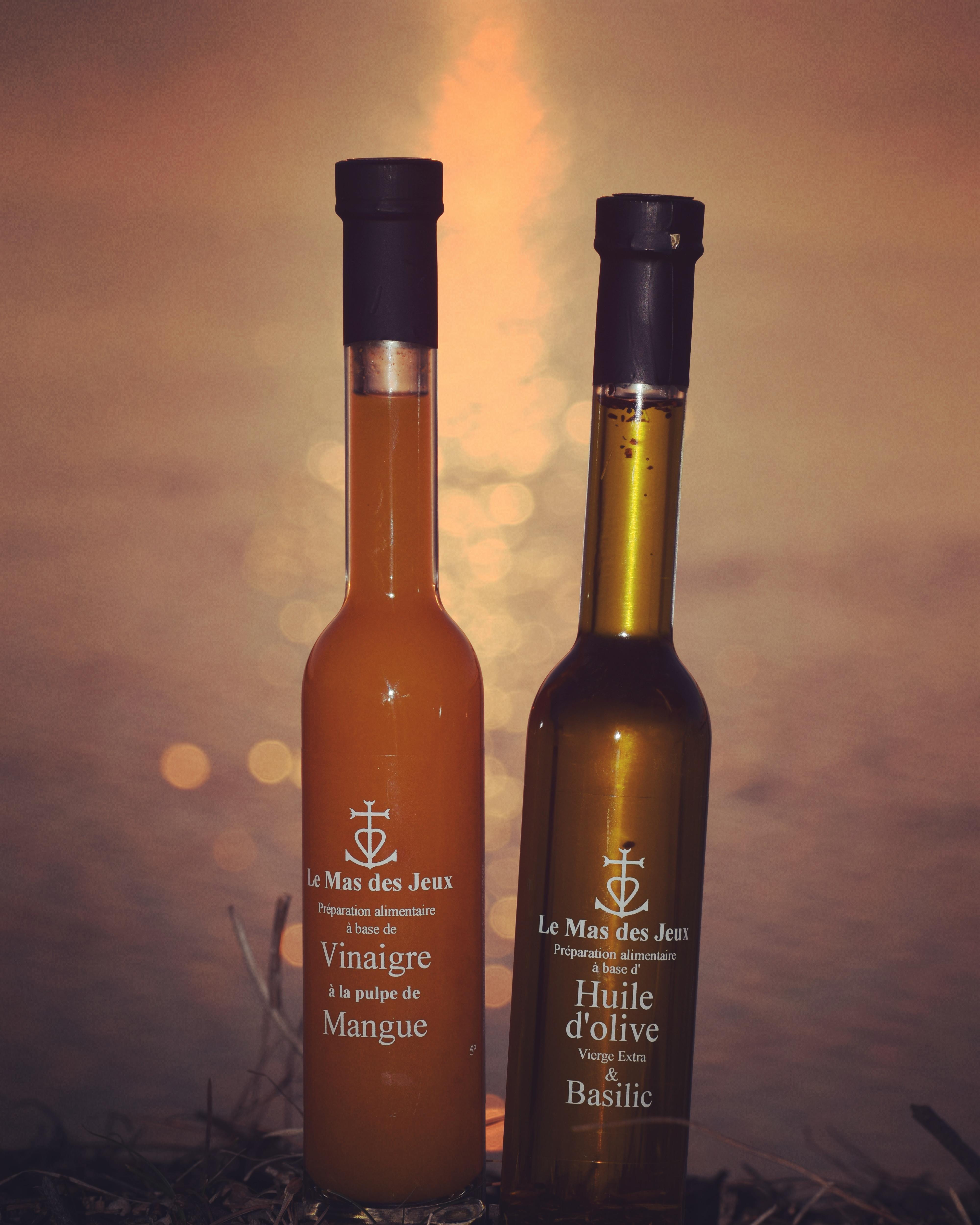 huile olive mangue basilic vinaigre balsamique